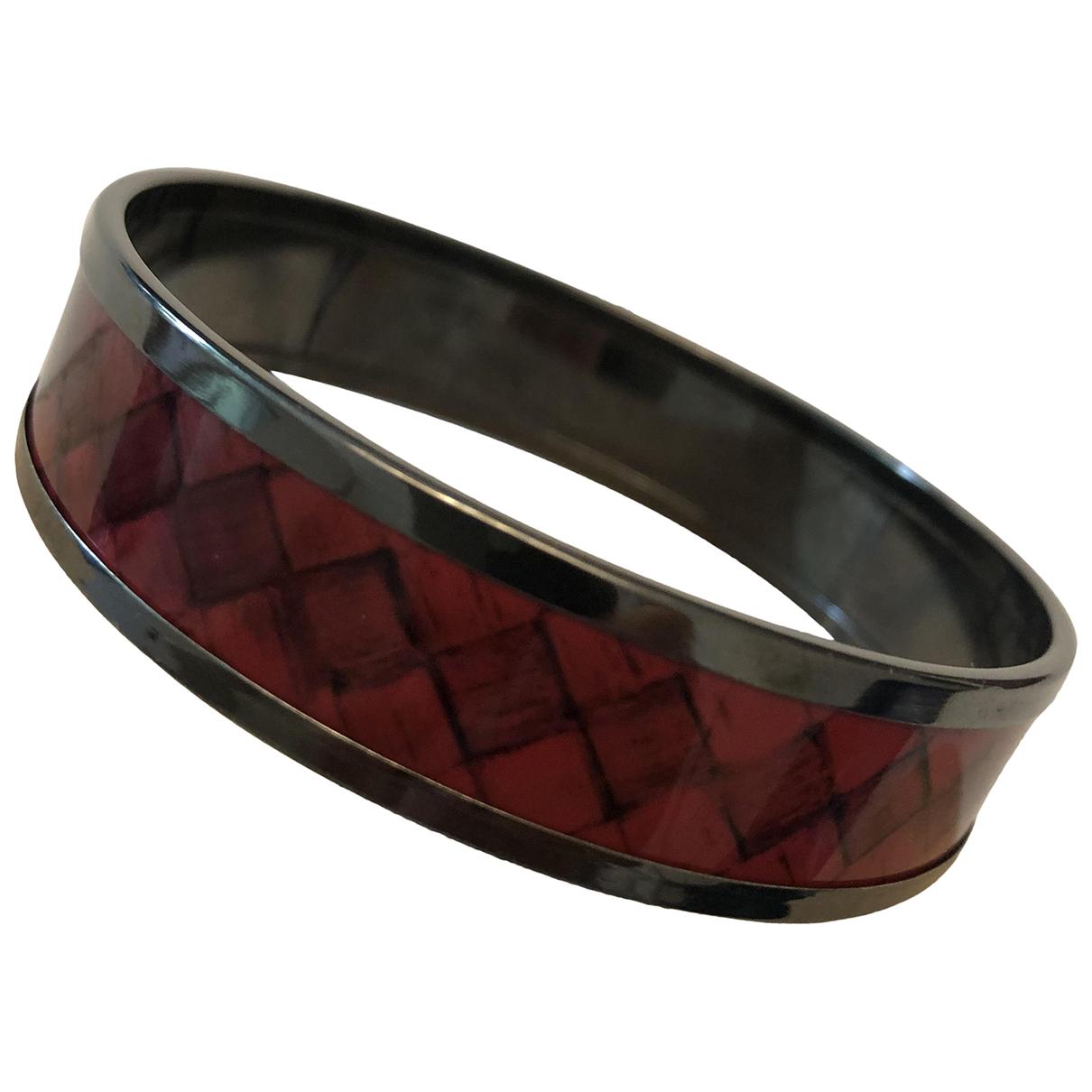 Bottega Veneta \N Armband in  Rot Silber