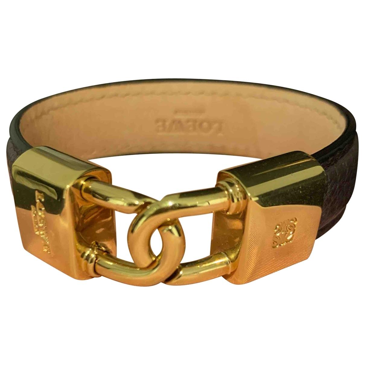 Loewe - Bracelet   pour femme en cuir - marron