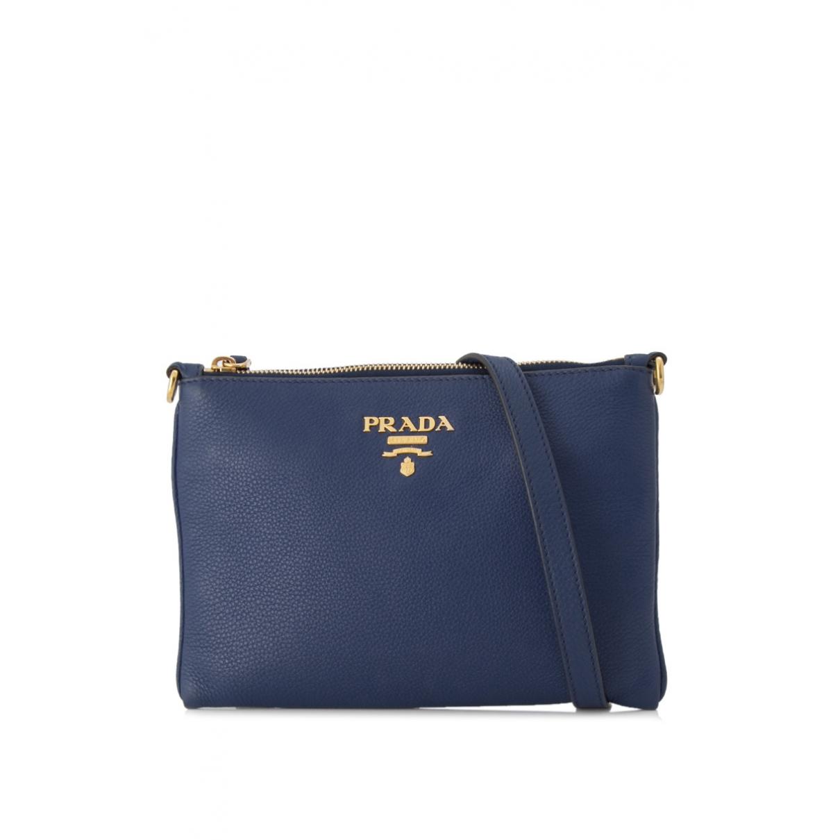 Prada Light Frame Blue Leather Clutch bag for Women \N