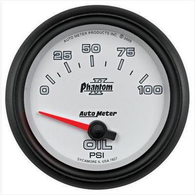 Auto Meter Phantom II Electric Oil Pressure Gauge - 7827
