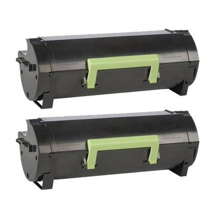 Compatible Lexmark 521X 52D1X00 cartouche de toner noire - boite economique - 2/paquet