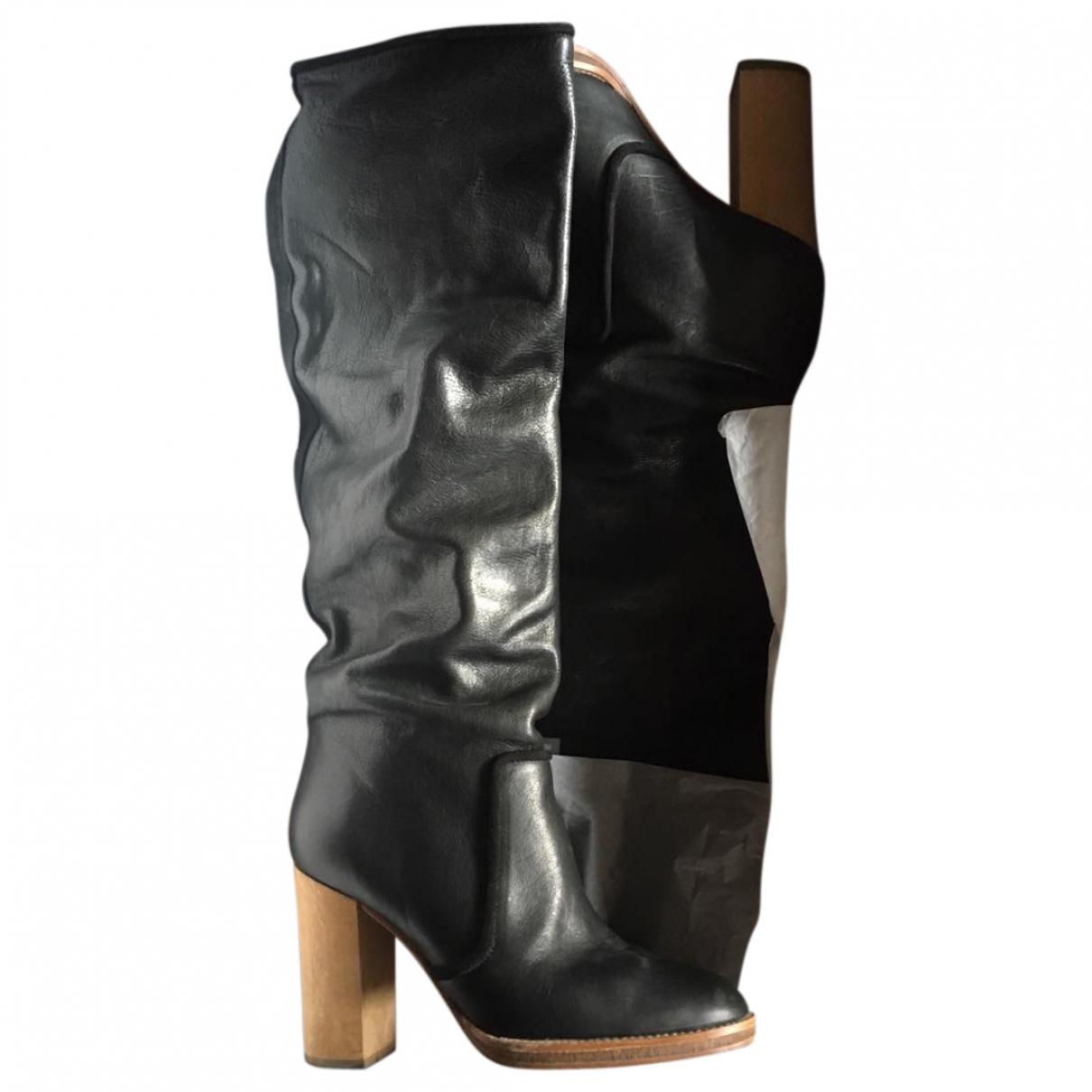 Isabel Marant \N Black Leather Boots for Women 39 EU