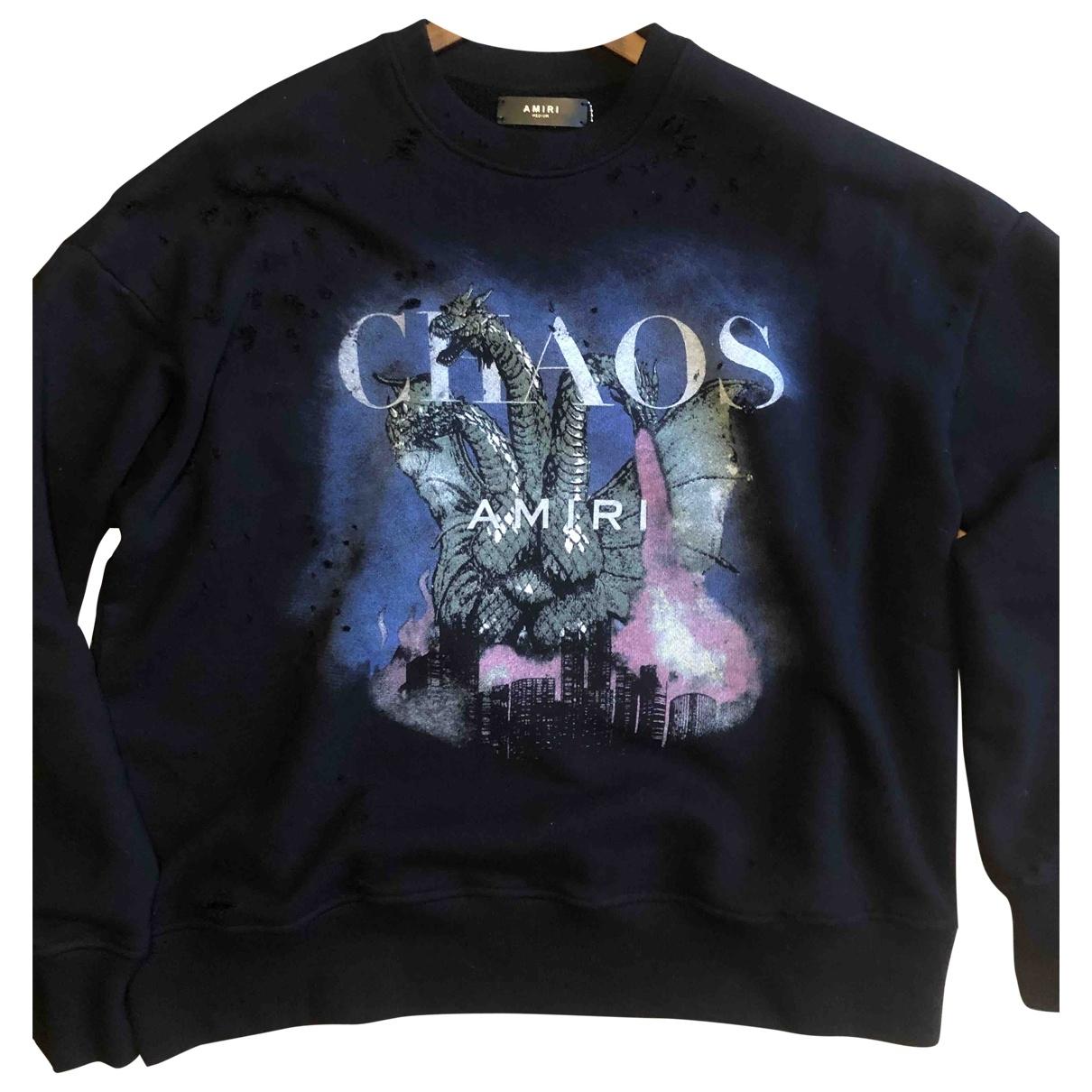 Amiri \N Pullover.Westen.Sweatshirts  in  Anthrazit Baumwolle