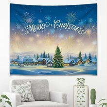 Christmas Pattern Print Tapestry