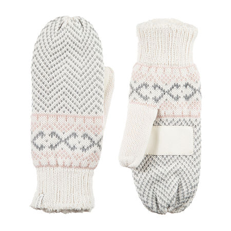 Isotoner Knit Midweight Mittens, One Size , Multiple Colors