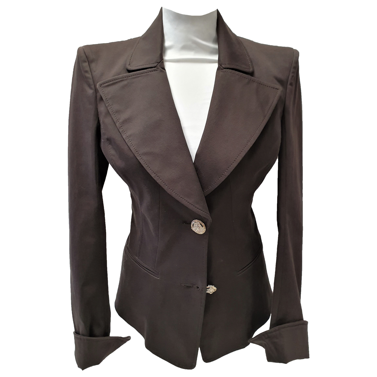 Versace N Brown Cotton jacket for Women 38 FR