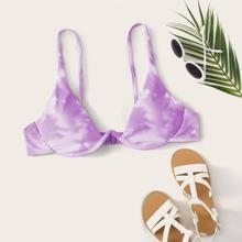 Top bikini con aro de Tie Dye