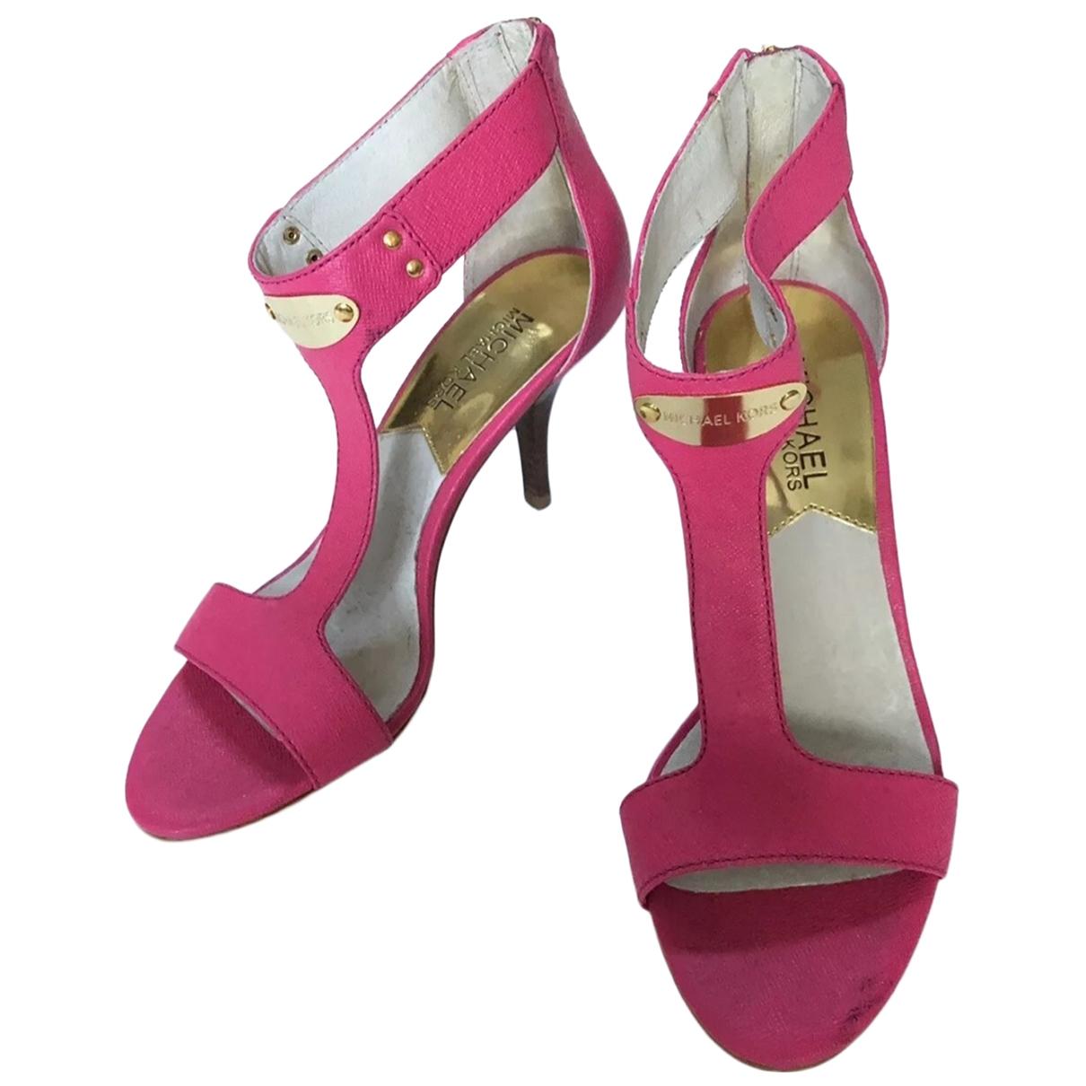 Michael Kors \N Pink Leather Heels for Women 6 US