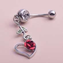 Heart Flower Decor Belly Ring