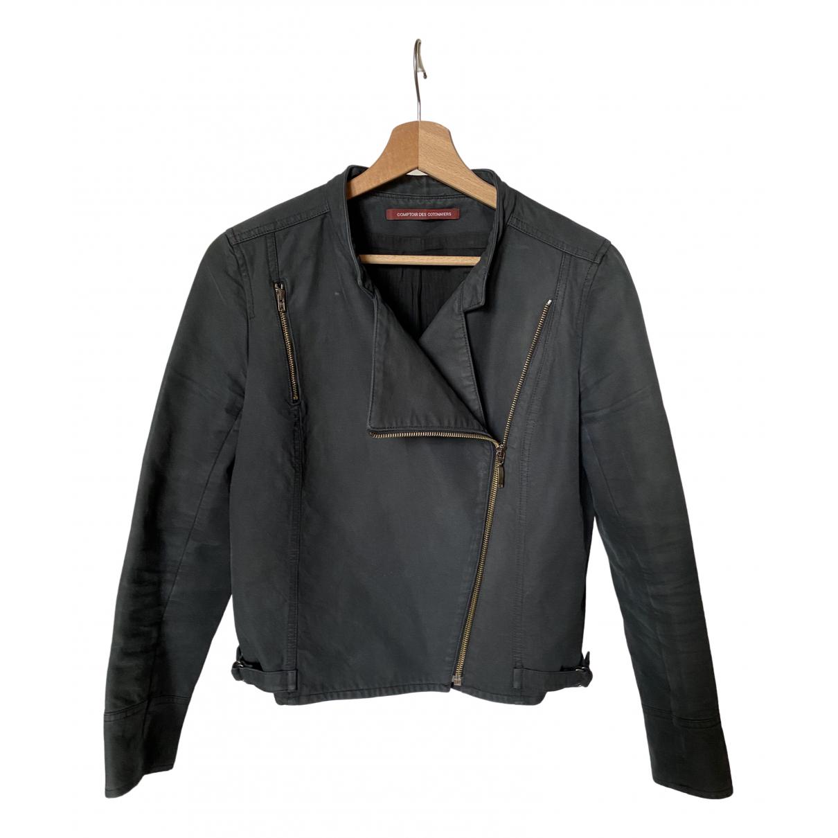 Comptoir Des Cotonniers - Veste   pour femme en coton - noir