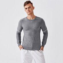 Pullover mit Streifen Muster