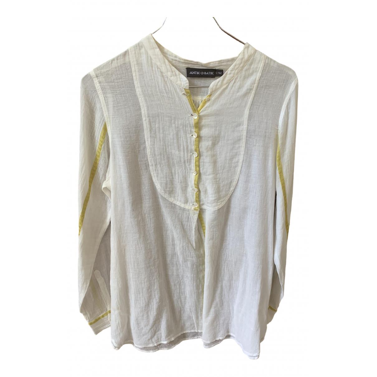 Antik Batik - Top   pour femme en coton - ecru
