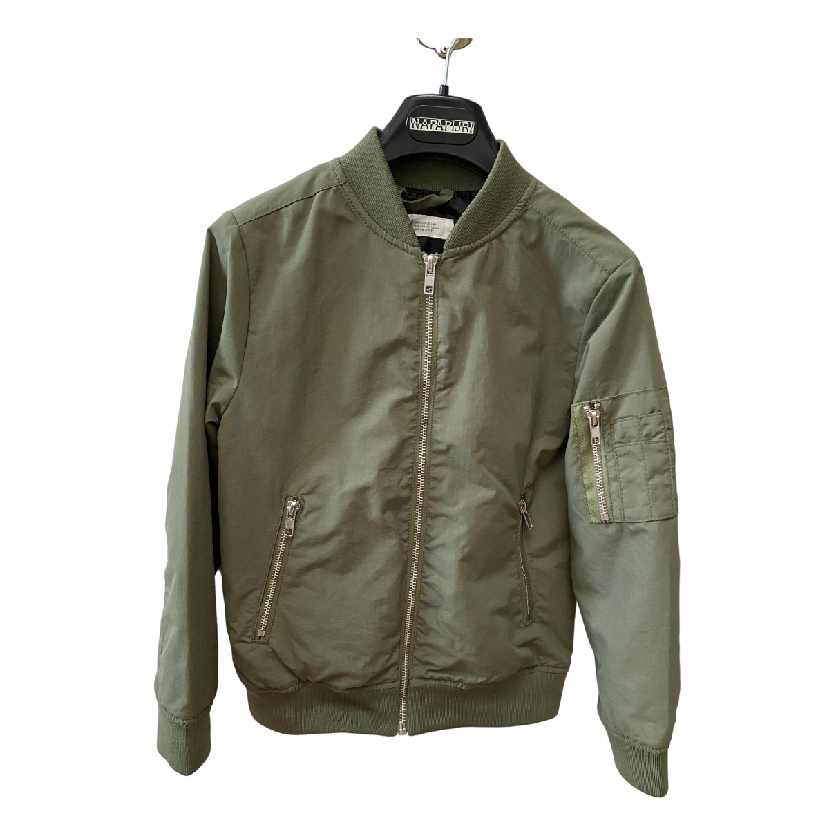 Non Signe / Unsigned \N Jacke, Maentel in  Khaki Polyester