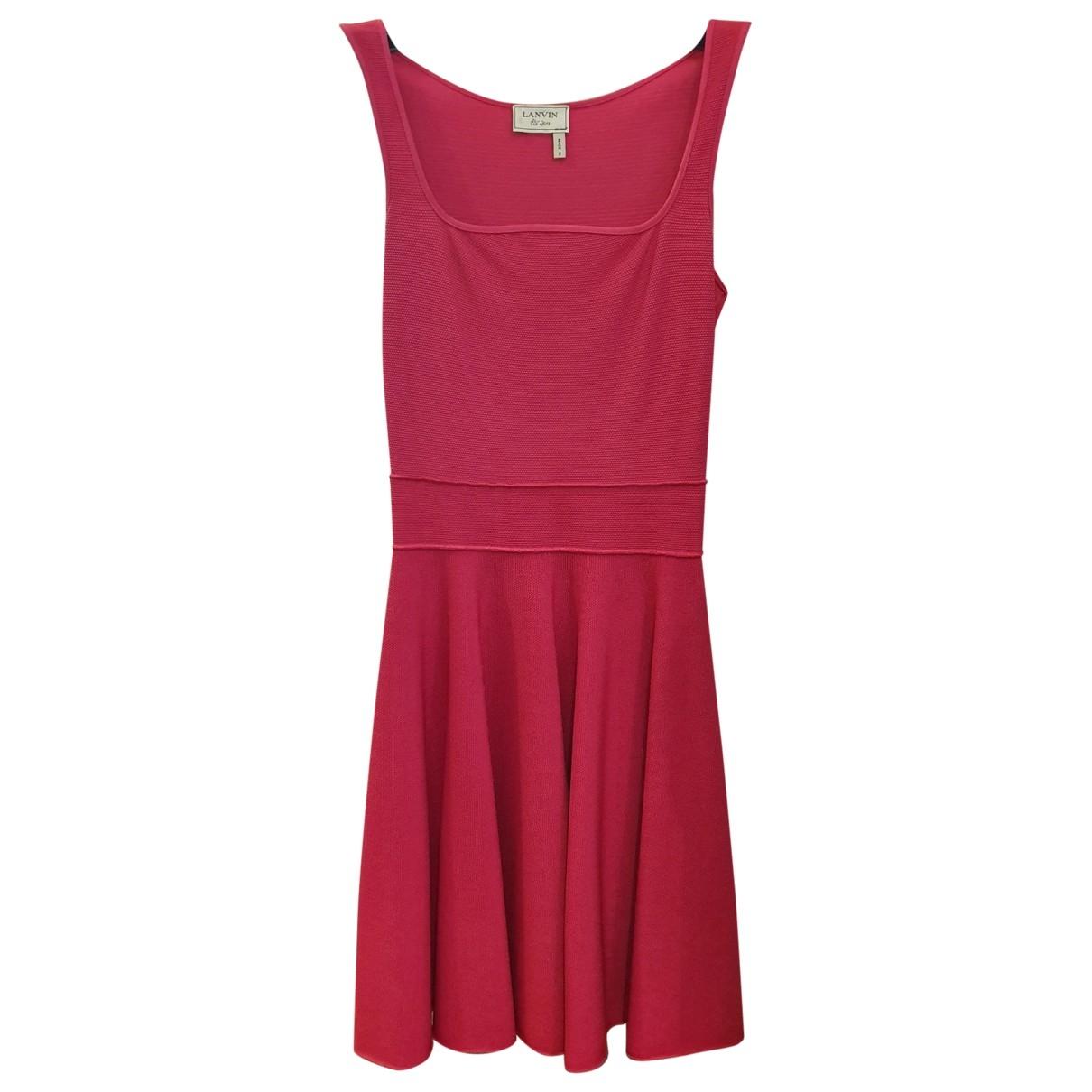 Lanvin \N Kleid in  Rosa Viskose