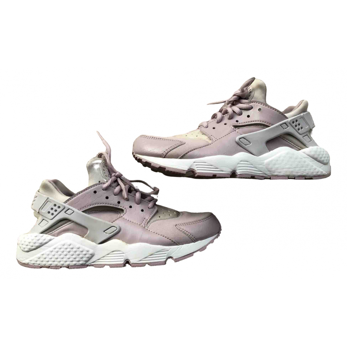 Nike Huarache Pink Cloth Trainers for Women 38 EU