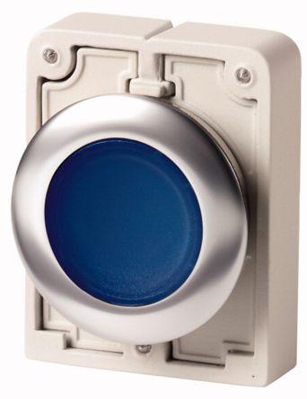 Eaton Flush Blue Push Button - Maintained, M30 Series, 30mm Cutout, Round