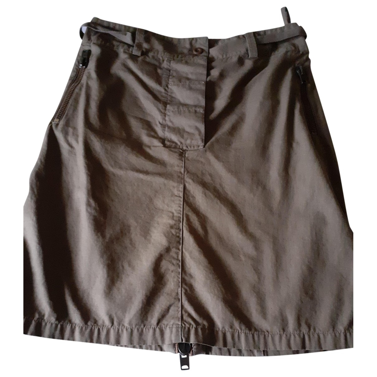 Miu Miu - Jupe   pour femme en coton - kaki