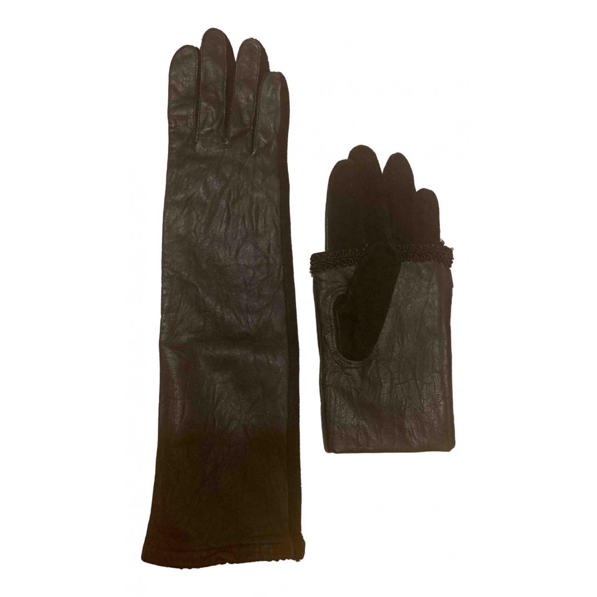 Undercover \N Handschuhe in  Schwarz Leder