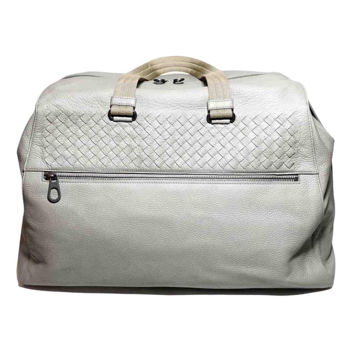 Bottega Veneta \N Grey Leather bag for Men \N