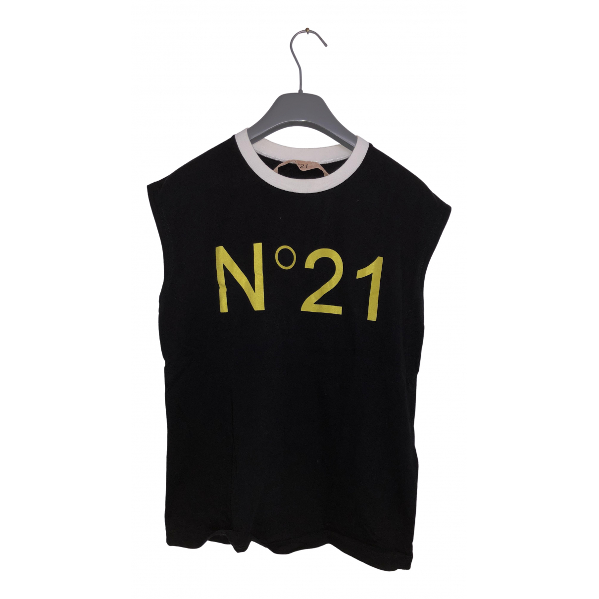 N°21 \N Black Cotton  top for Women 38 IT
