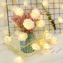 10pcs Artificial Rose Decor String Light