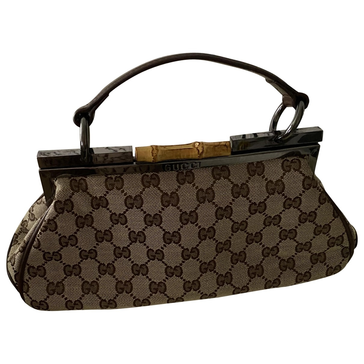 Gucci Bamboo Brown Cloth handbag for Women \N
