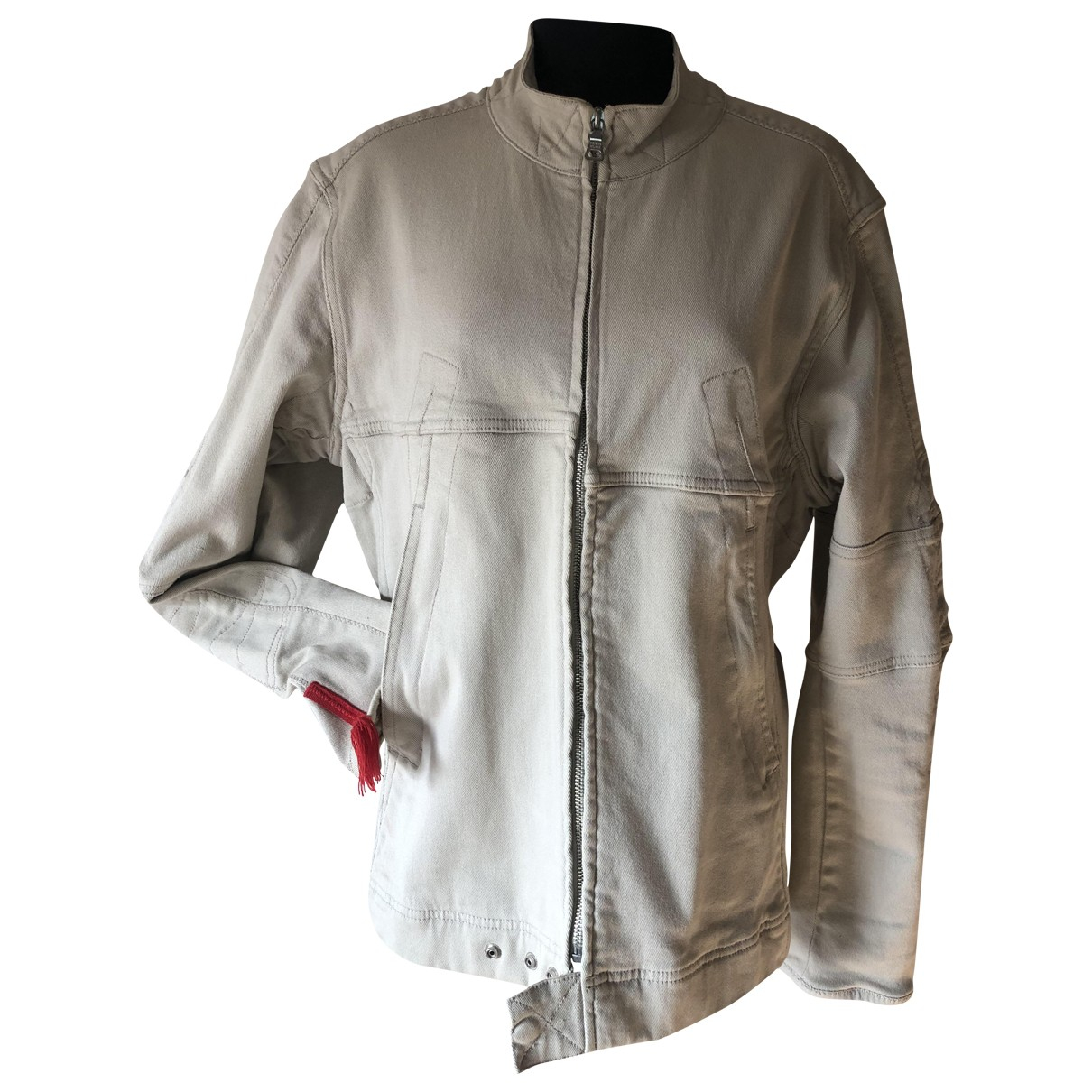 Prada \N Ecru Cotton jacket  for Men 48 IT