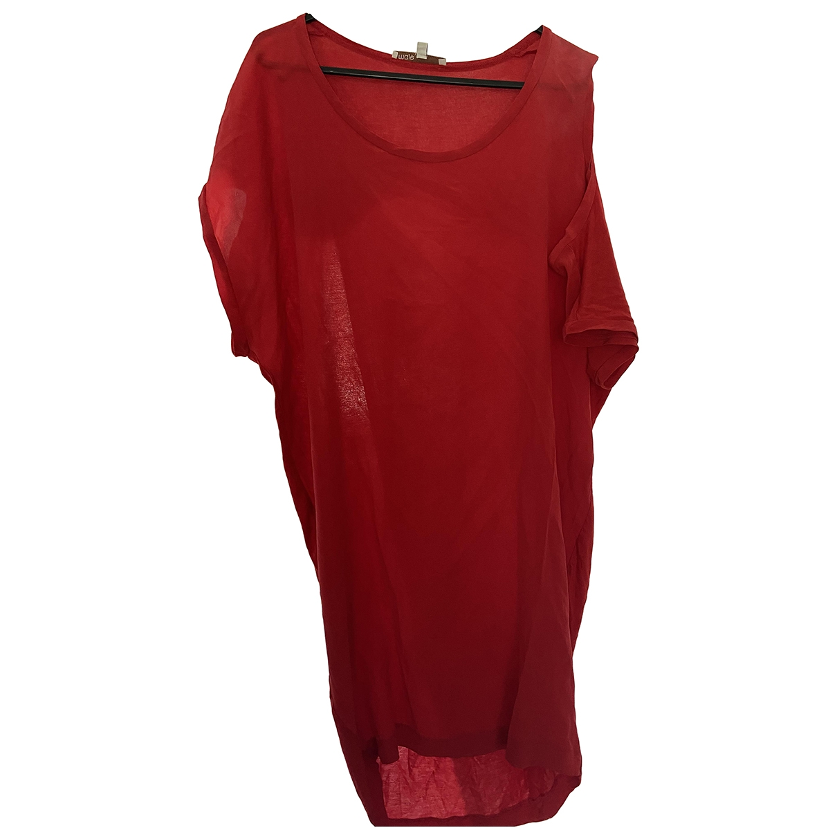 Maje \N Kleid in  Rot Viskose