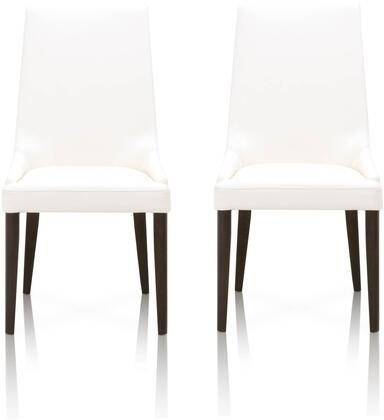 Orchard Collection 5131.ALA/DW Set of 2 Aurora Dining Chairs with Tapered Legs  Transitional Style  Curved Backrest and Soft Top Grain Leather
