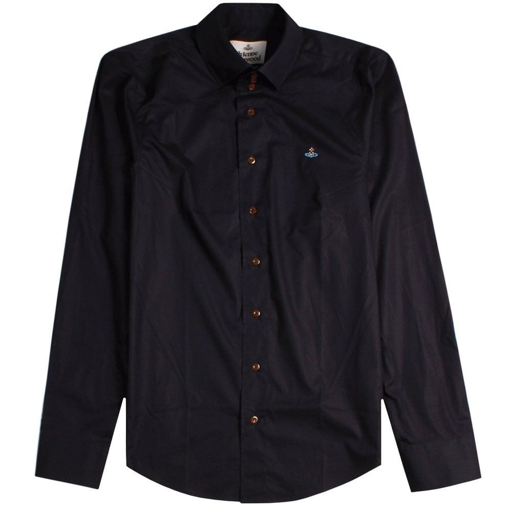 Vivienne Westwood Aw18 3 Button Shirt Colour: BLACK, Size: LARGE