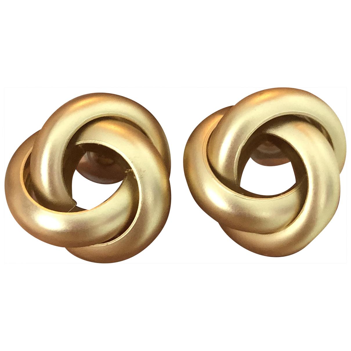 - Boucles doreilles Motifs Noeuds pour femme en acier - dore