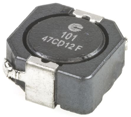 Eaton Bussmann Series , DR1050, 1050 Shielded Wire-wound SMD Inductor with a Ferrite Core, 100 μH ±30% Wire-Wound 1.45A (5)