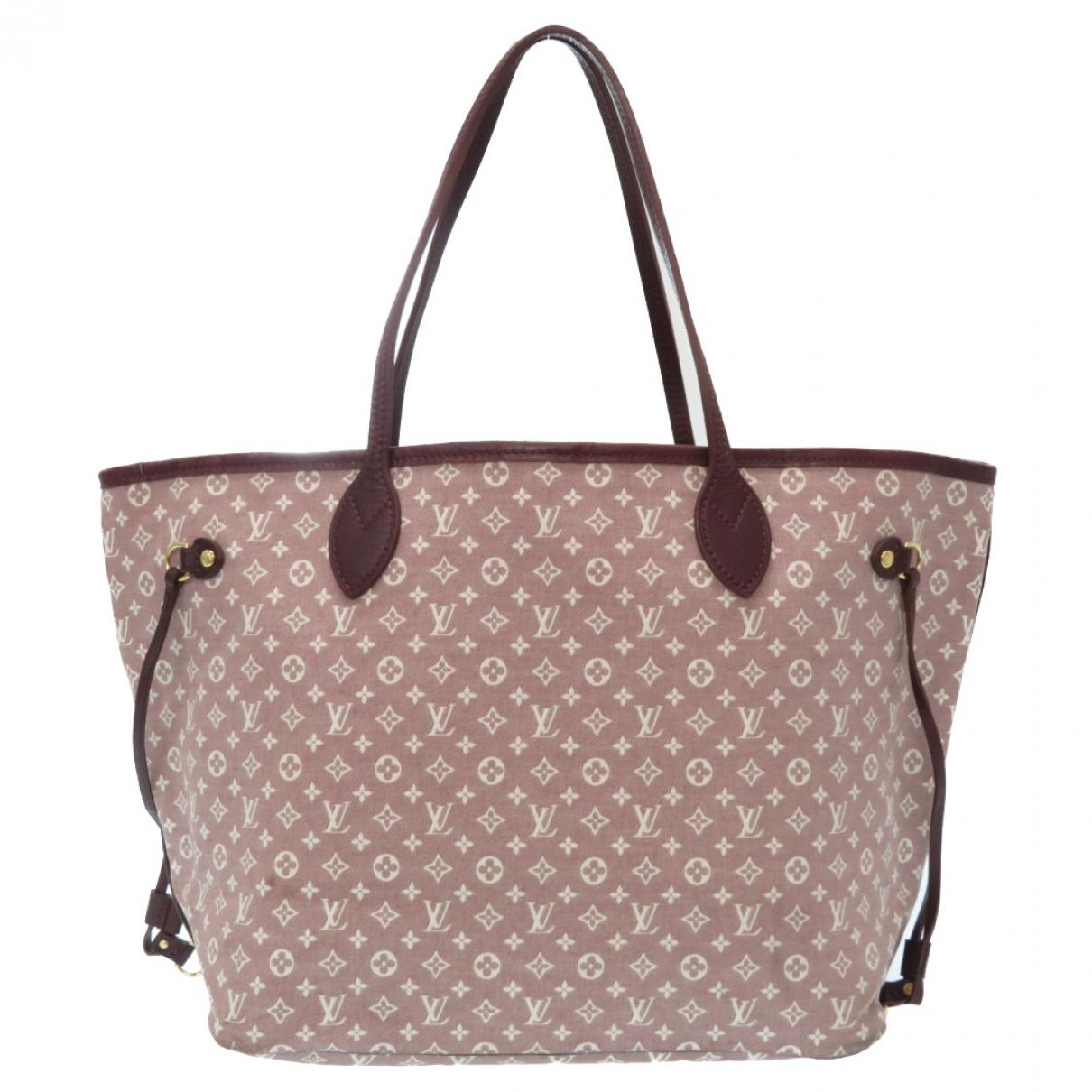 Louis Vuitton Neverfull Handtasche in  Rot Leinen