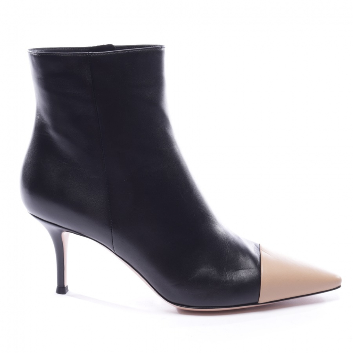 Gianvito Rossi \N Black Leather Ankle boots for Women 40 EU