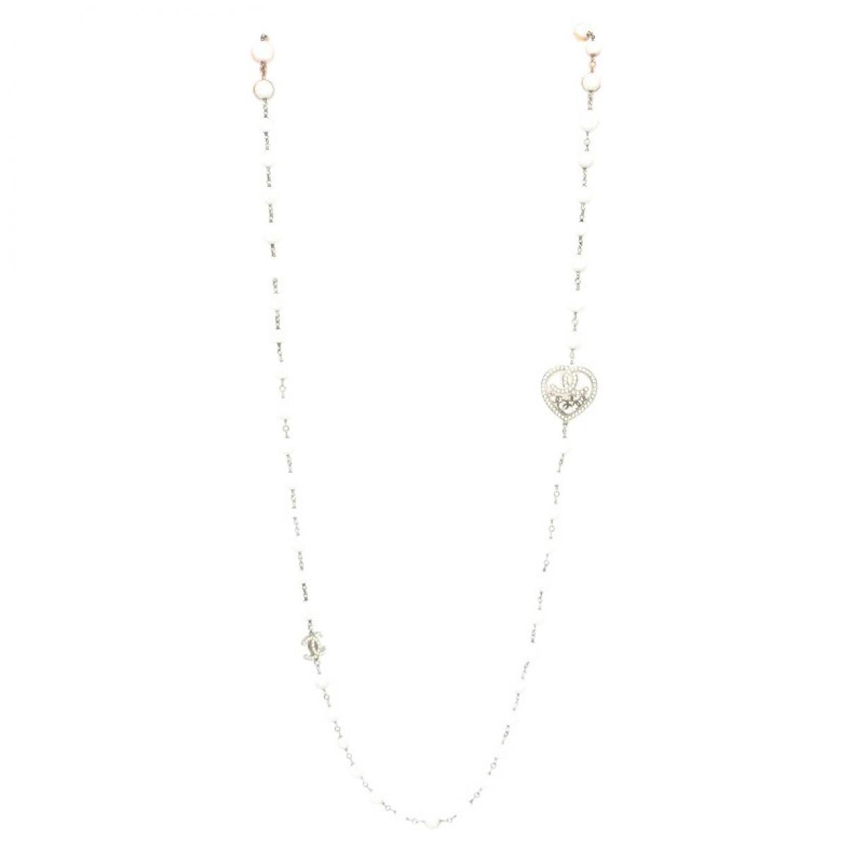 Chanel - Collier   pour femme en metal - blanc