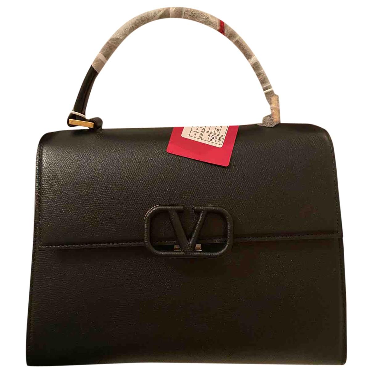 Valentino Garavani - Sac a main Vsling pour femme en cuir - noir