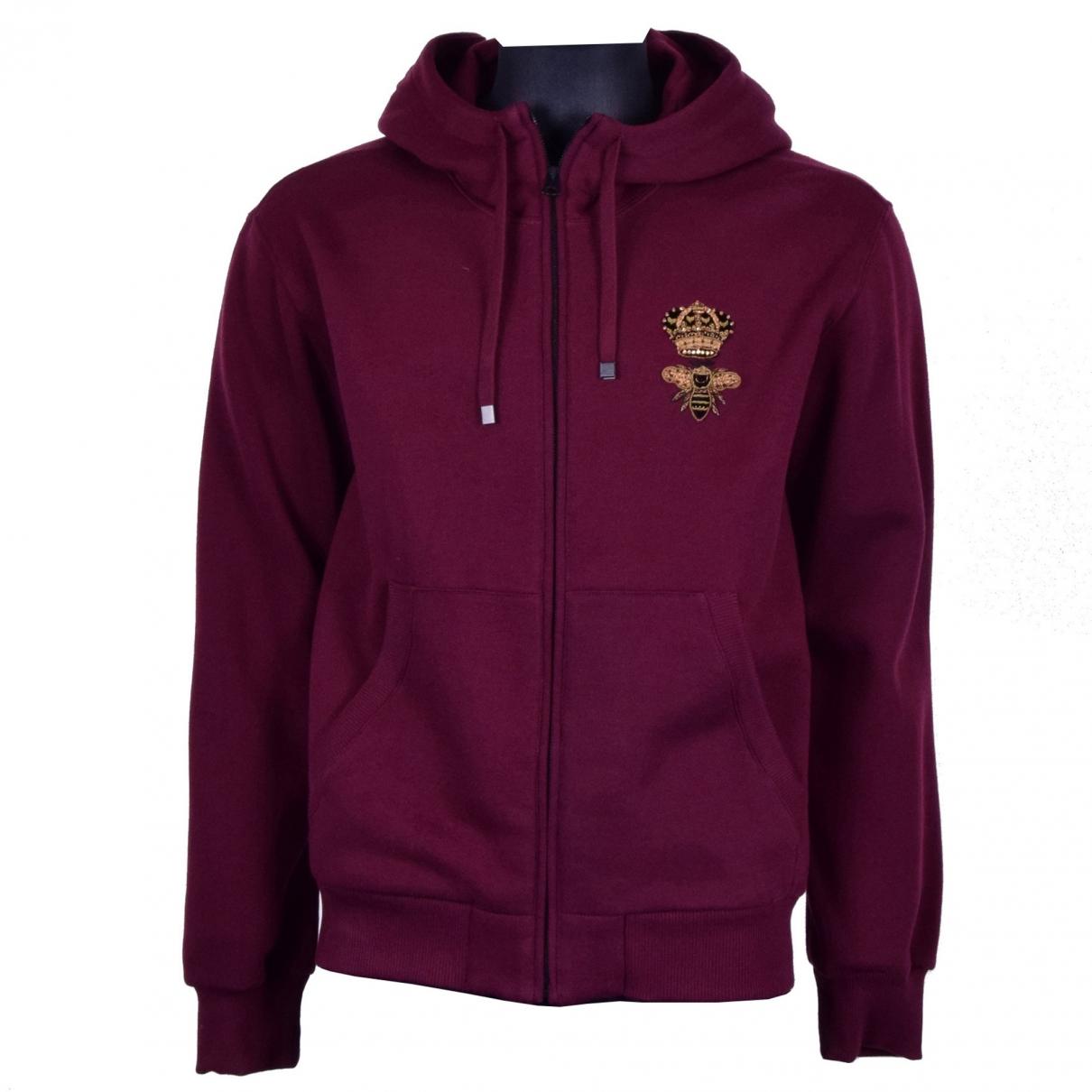 Dolce & Gabbana \N Burgundy Cotton Knitwear & Sweatshirts for Men 52 IT