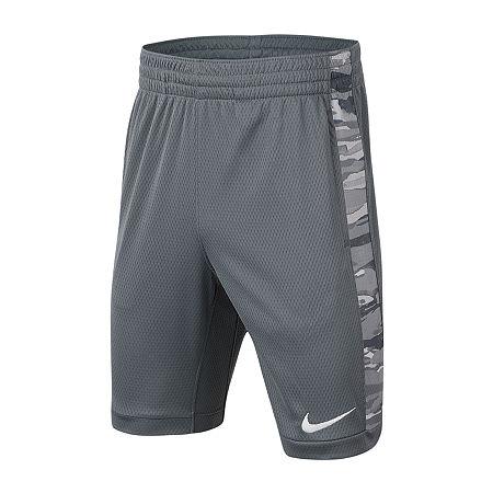 Nike Big Boys Basketball Short, Small , Gray