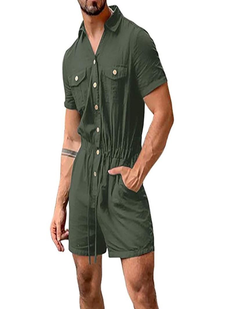 Ericdress Plain Pocket Shorts Jumpsuits/Overalls