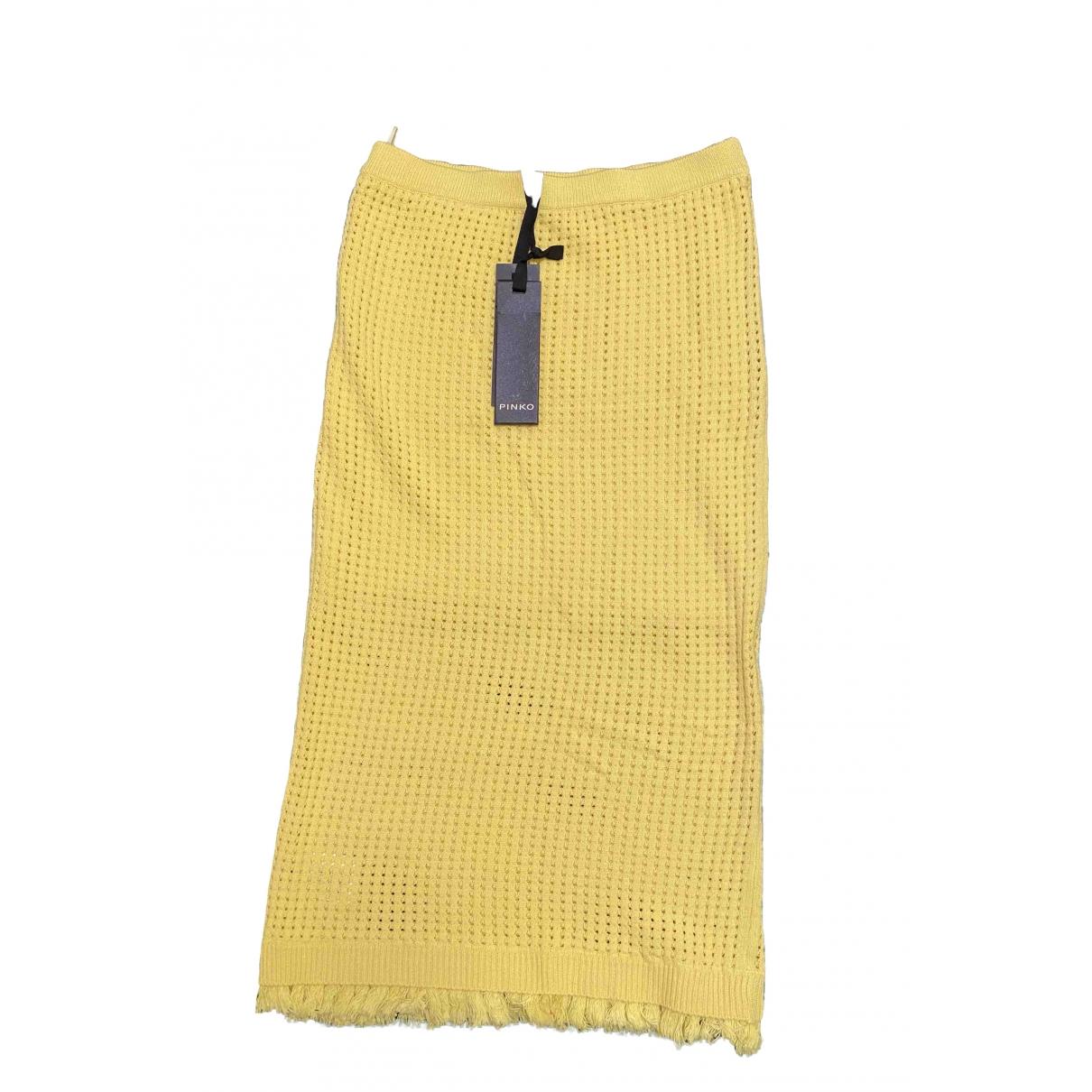 Pinko \N Rocke in  Gelb Baumwolle