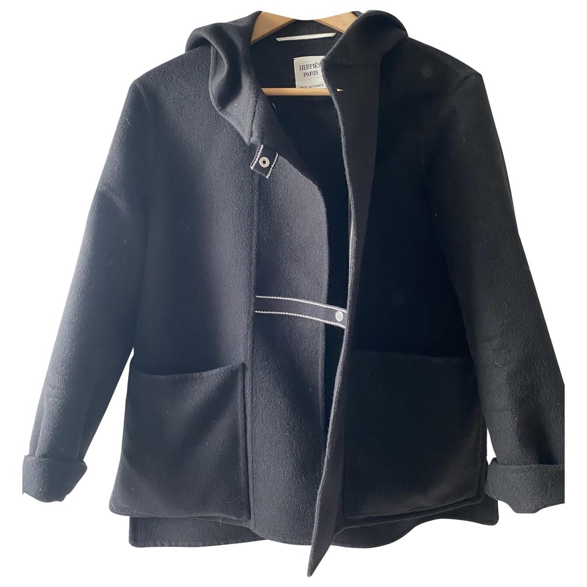 Hermes - Manteau   pour femme en cachemire - noir