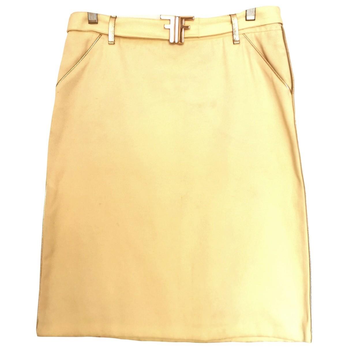 Fendi \N Yellow Cotton skirt for Women 42 IT