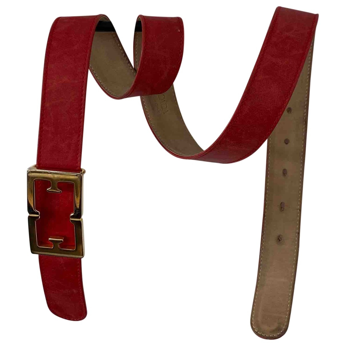 Escada \N Red Leather belt for Women S International