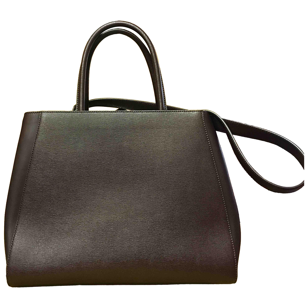 Fendi 2Jours Handtasche in  Braun Leder