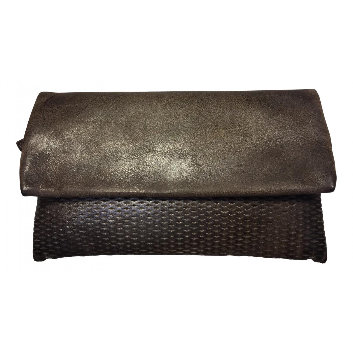 Reptiles House - Portefeuille   pour femme en cuir - gris