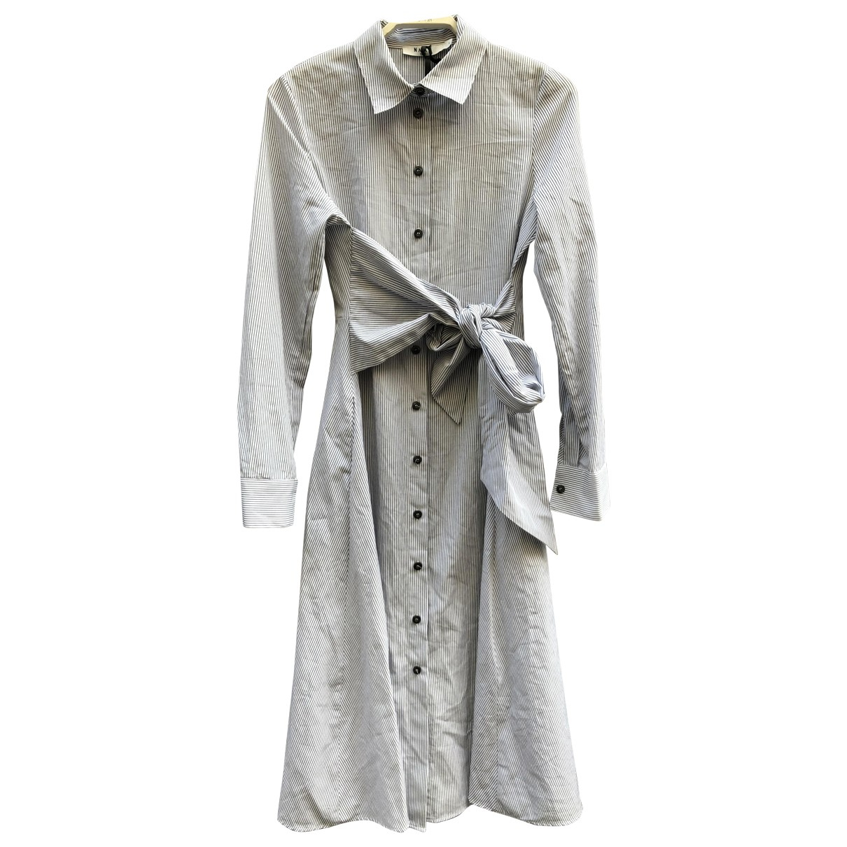 Non Signé / Unsigned Hippie Chic White Cotton dress for Women S International