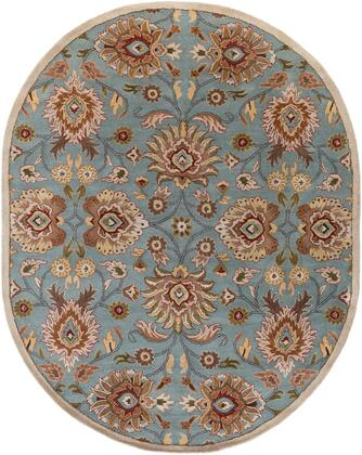 Caesar CAE-1052 8' x 10' Oval Traditional Rug in