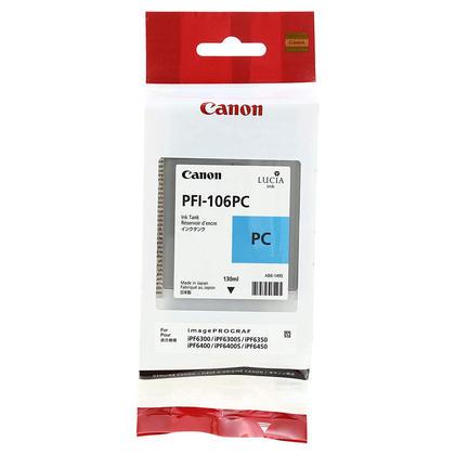Canon PFI-106PC 6625B001AA Original Photo Cyan Ink Cartridge