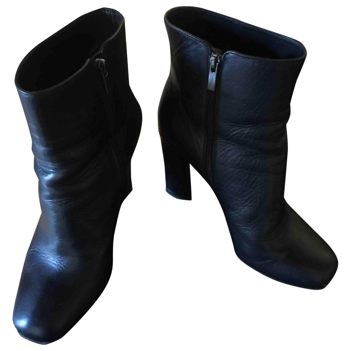Le Silla \N Stiefeletten in  Schwarz Leder