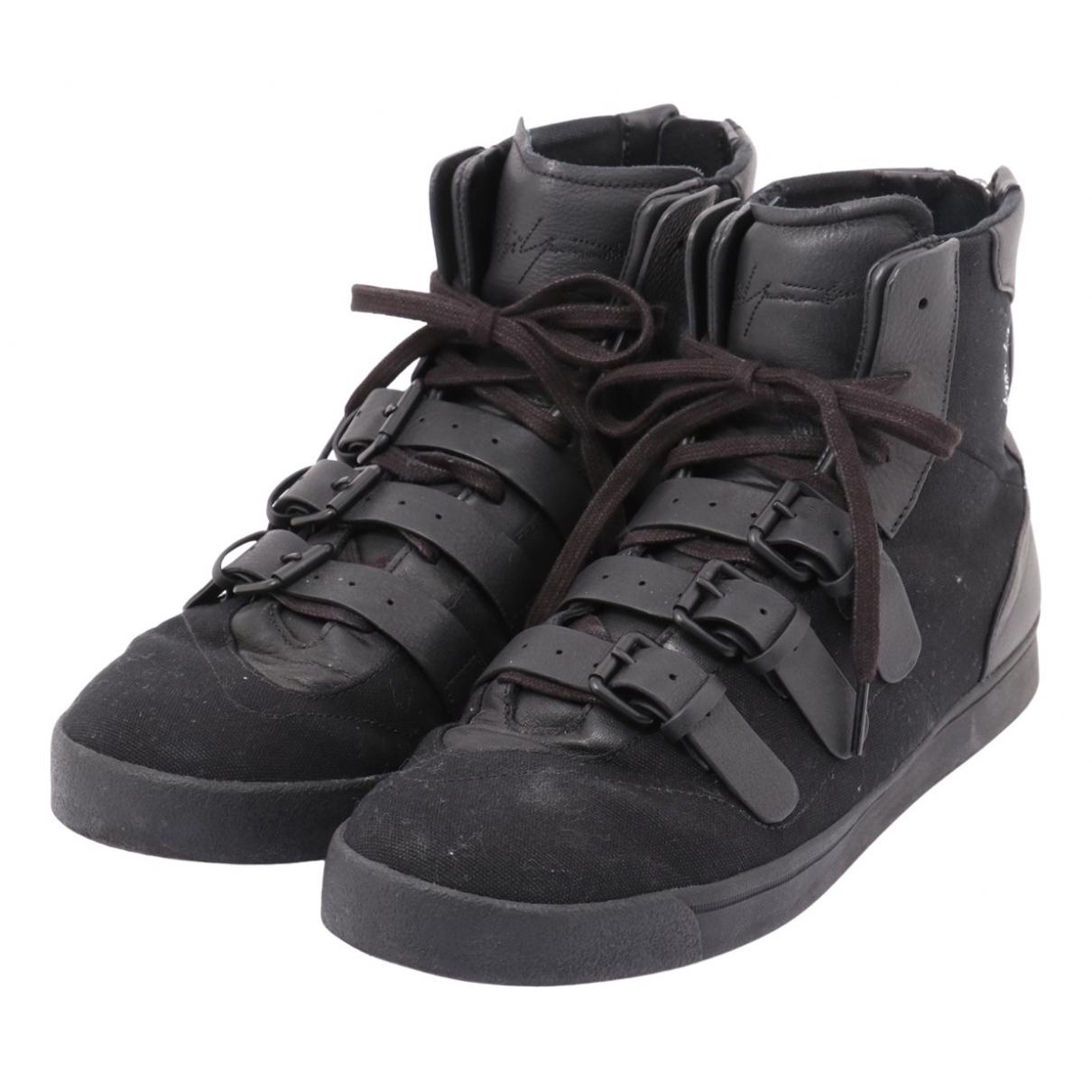Yohji Yamamoto - Baskets   pour homme en toile - noir